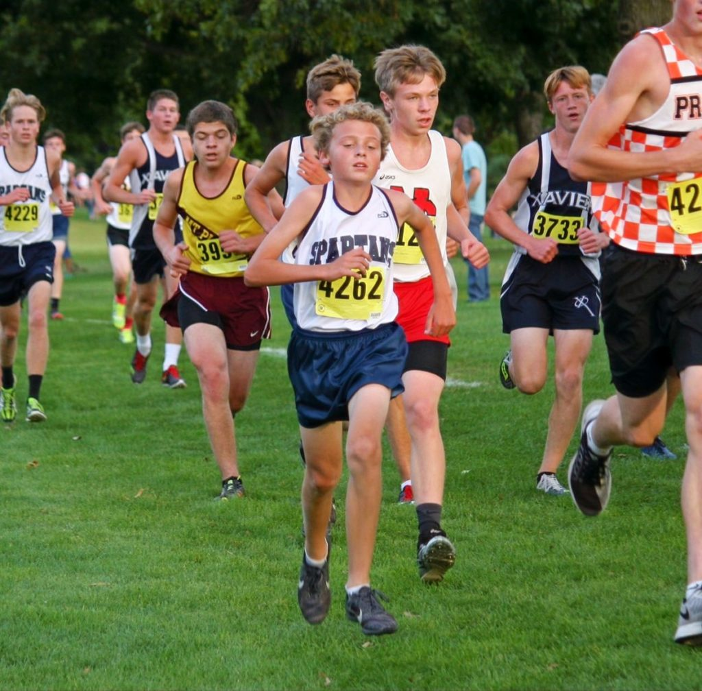 Murphy racing as a freshman.